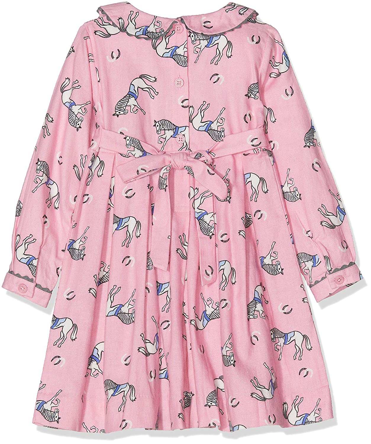 Rachel Riley Baby Girls Pony Flannel Dress /& Bloomers Dress