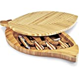 Picnic Time 'Leaf' Bamboo Cheese Board and Tool Set