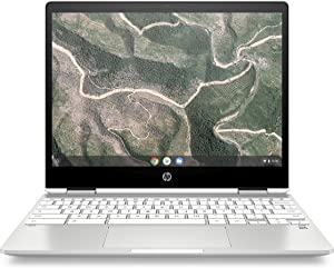 HP Chromebook X360 12-Inch HD+ Touchscreen Laptop, Intel Celeron N4000, 4. GB SDRAM, 32 GB eMMC, Chrome (12b-ca0010nr, Ceramic White)