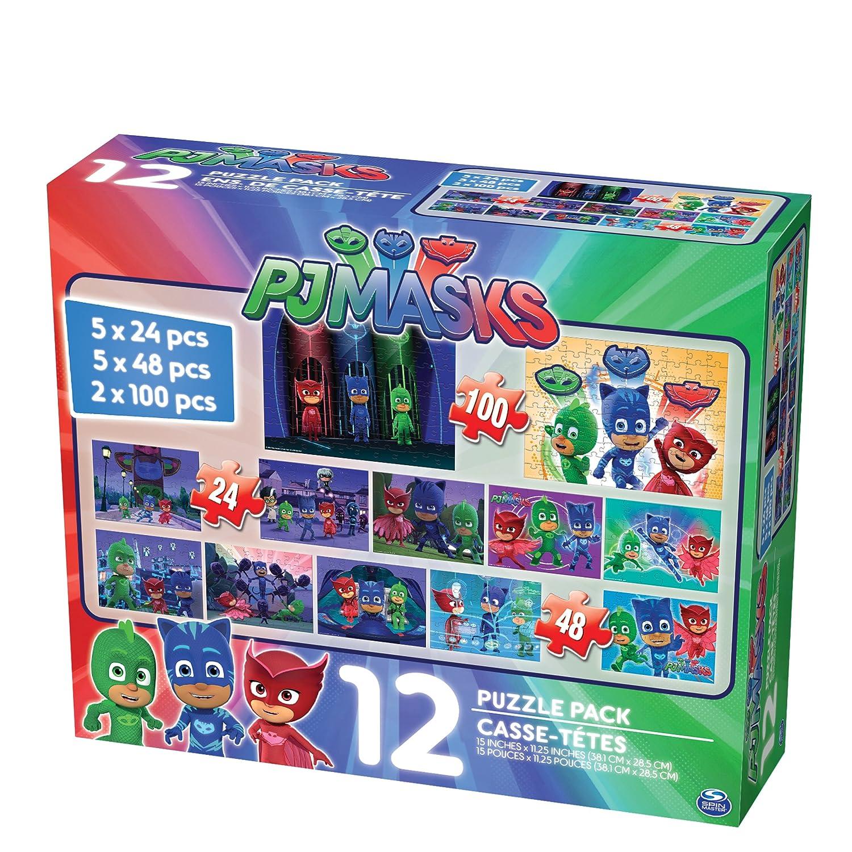 Amazon.com: PJ máscaras 12 Puzzle Pack (24 piezas): Toys & Games