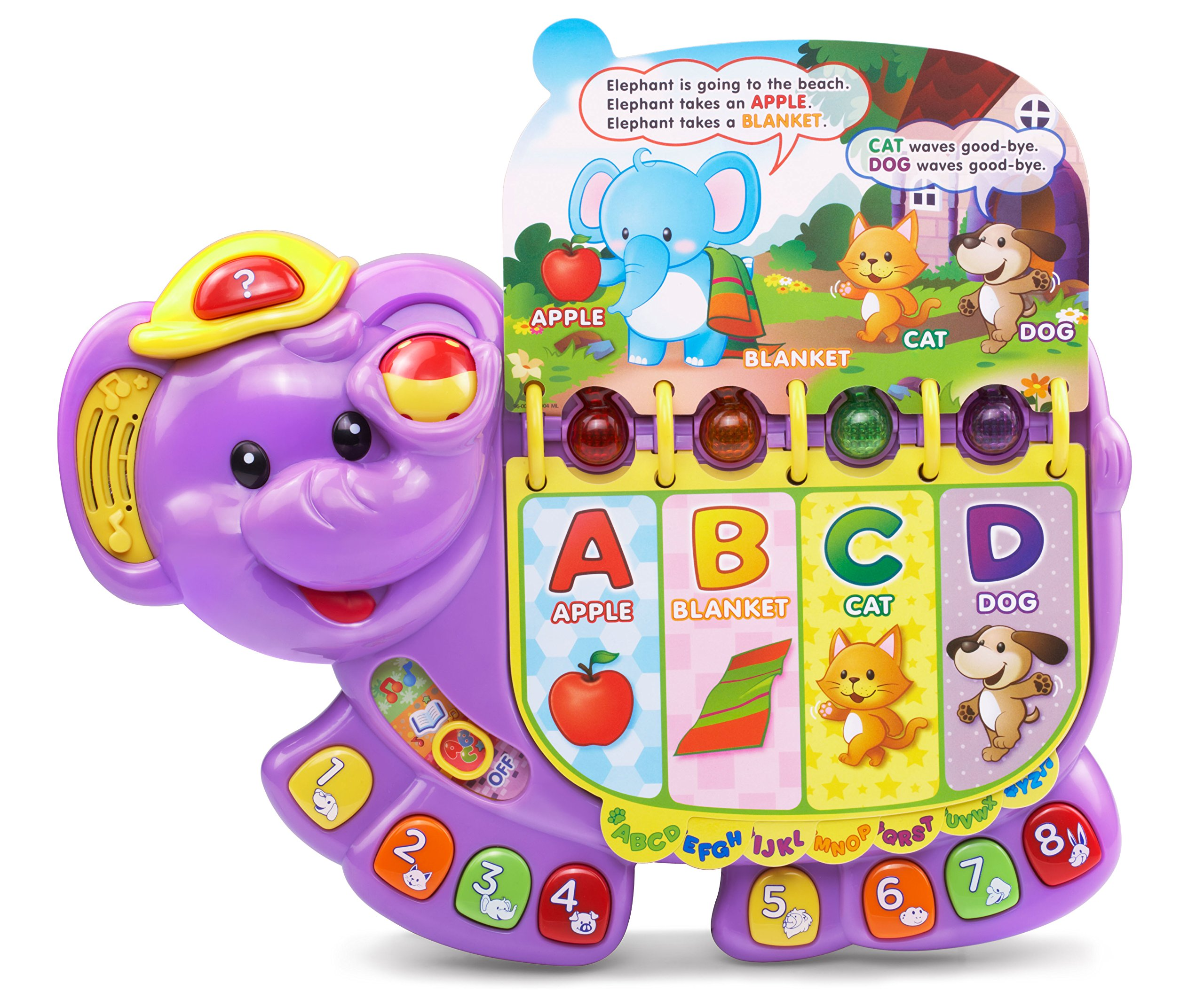 VTech Touch and Teach Elephant, Purple (Amazon Exclusive) by VTech (Image #2)