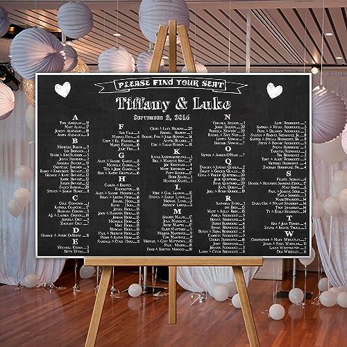 Amazon personalized wedding seating chart sign table seats personalized wedding seating chart sign table seats chalkboard junglespirit Images