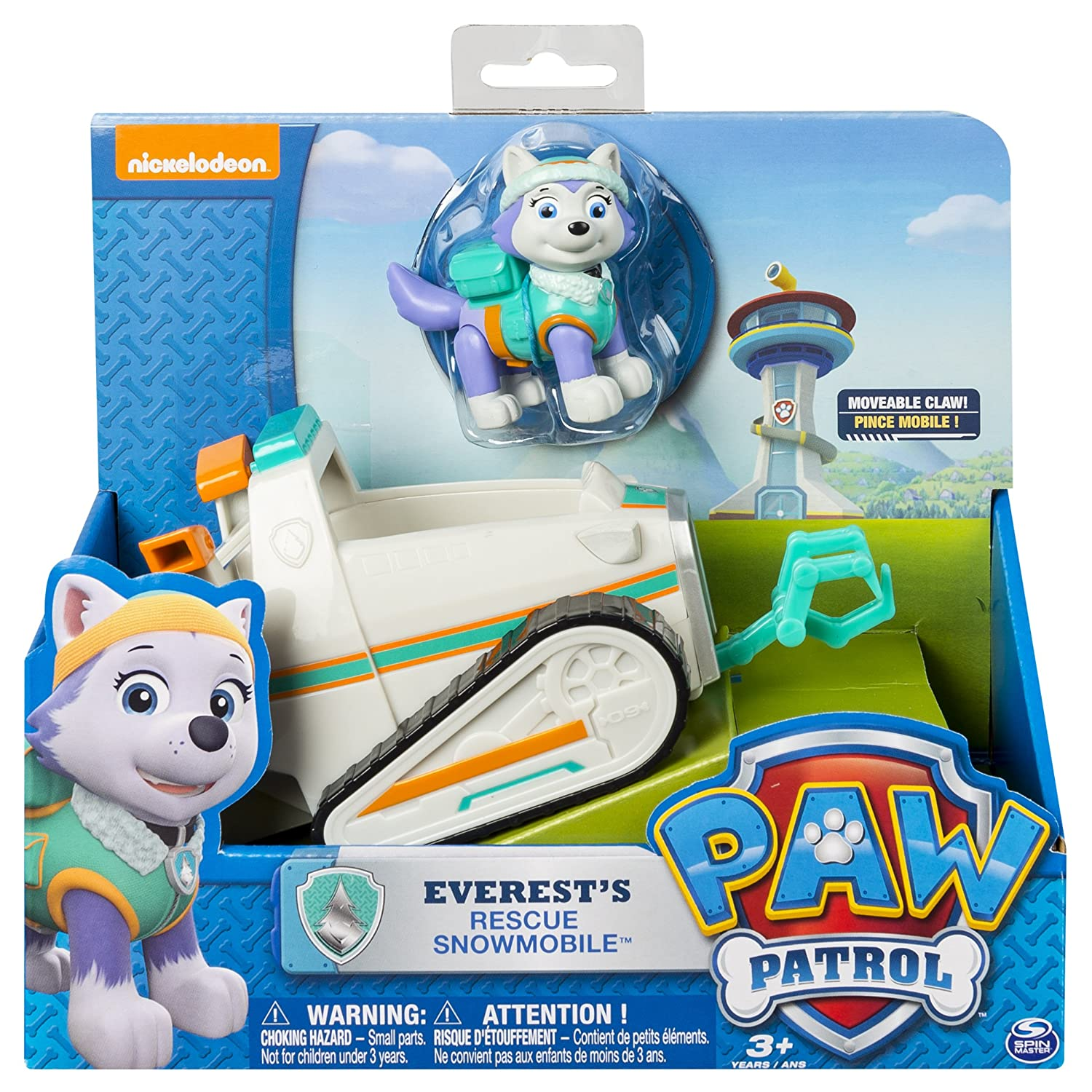 Amazon.com: Paw Patrol Everest's Rescue Snowmobile, Vehicle and Figure:  Toys & Games