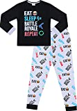 The Pyjama Factory Eat Sleep Battle Royale Repeat Gaming Cotton Long Pyjamas