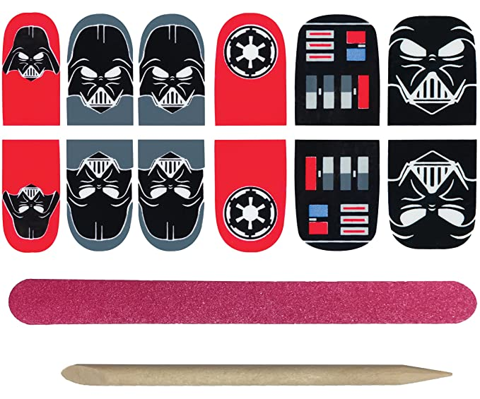 Amazon.com: Rubie\'s Adult Star Wars Darth Vader Nail Stickers: Clothing