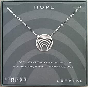 Encouragement 211 Motivational Gifts Geometric Pendant Jewelry for Women 925 Sterling Silver Hope Linear Necklace Inspirational Gifts