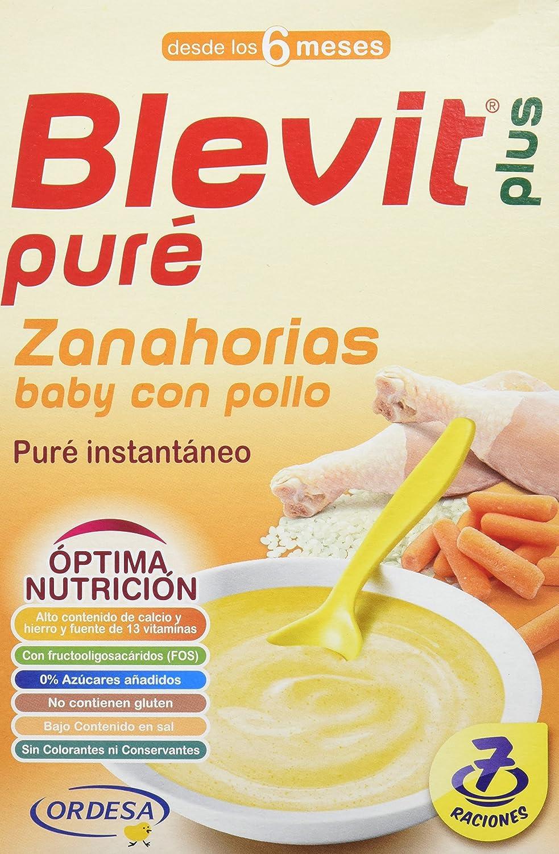 Blevit Plus Puré Zanahorias Baby con Pollo - 280 gr: Amazon.es: Alimentación y bebidas