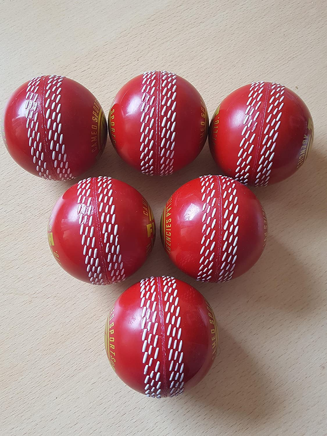 Cricket (HARD Balls)Training Match Playing Practicing Indoor Ball(packof 6) under £3 per ball affordable sport
