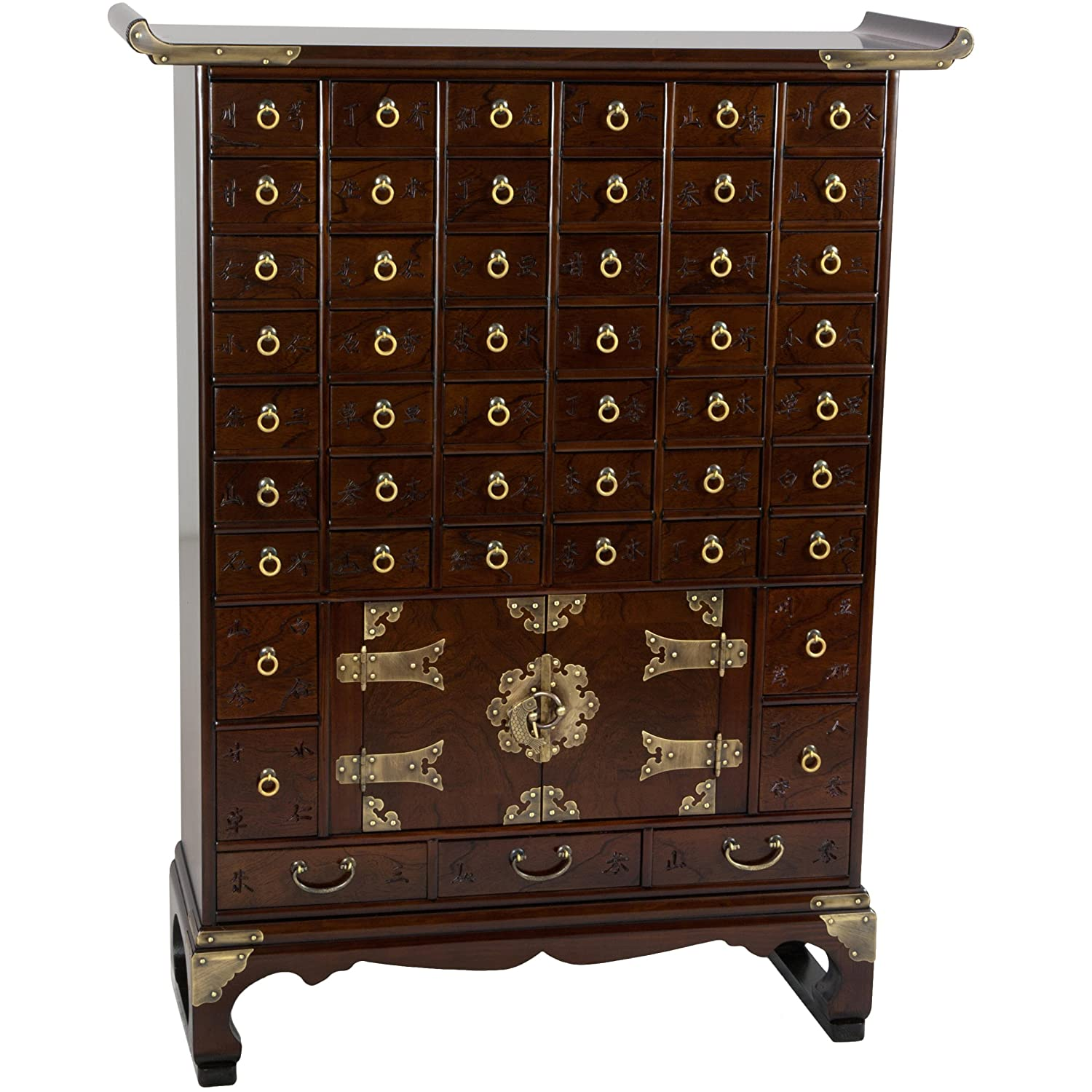 Amazing Amazon.com: Oriental Furniture Korean Antique Style 49 Drawer Apothecary  Chest: Kitchen U0026 Dining