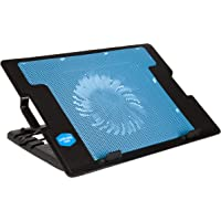 BRIX Portable Slim Quiet USB Powered Laptop Notebook Cooling Pad Stand Chill Mat with Super Quiet Fan (Blue)