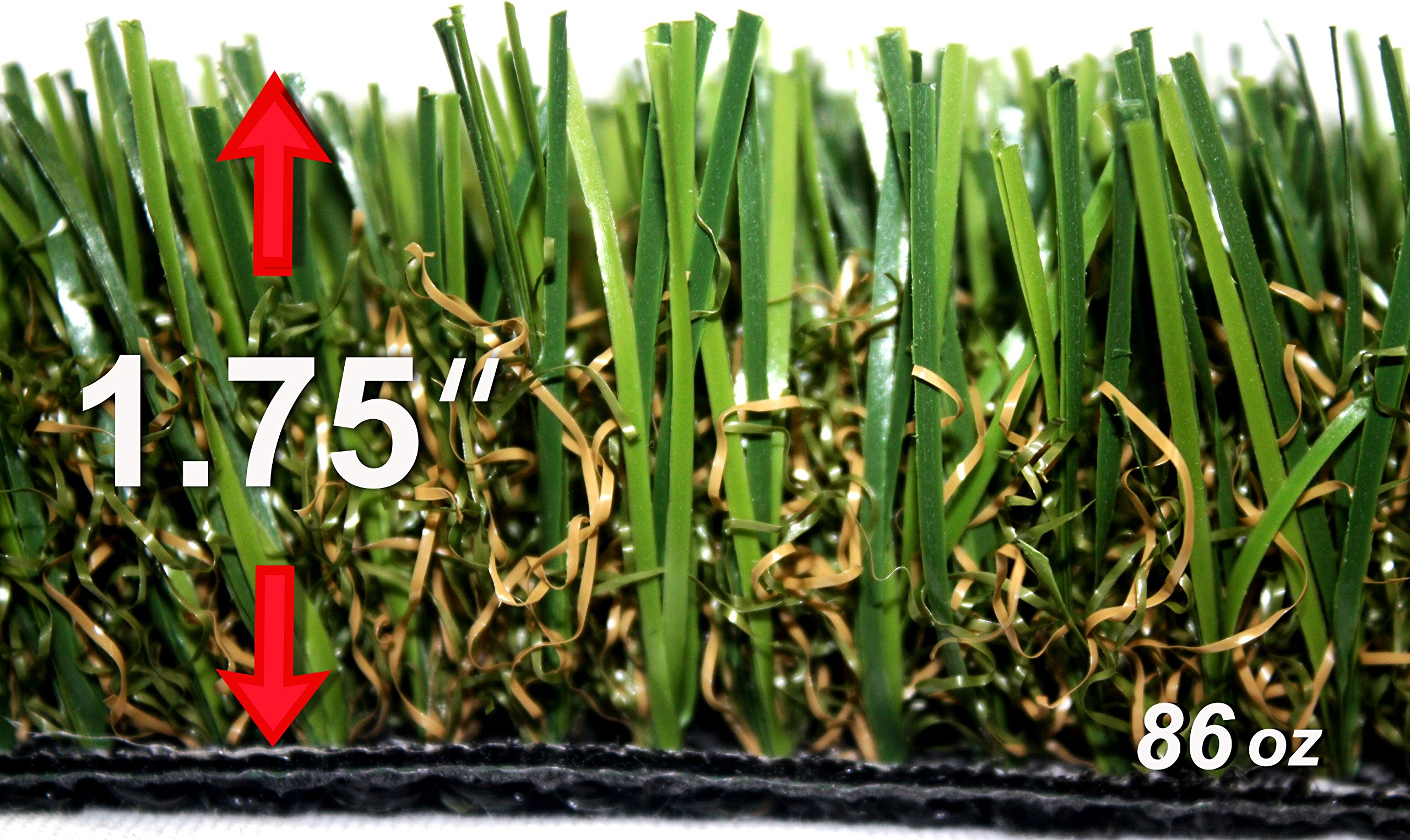 StarPro SPG-80 $2.87/sf ''Greater'' Centipede SW Ultra Natural Artificial Synthetic Grass Lawn Turf, 18ftx15ft by StarPro Greens