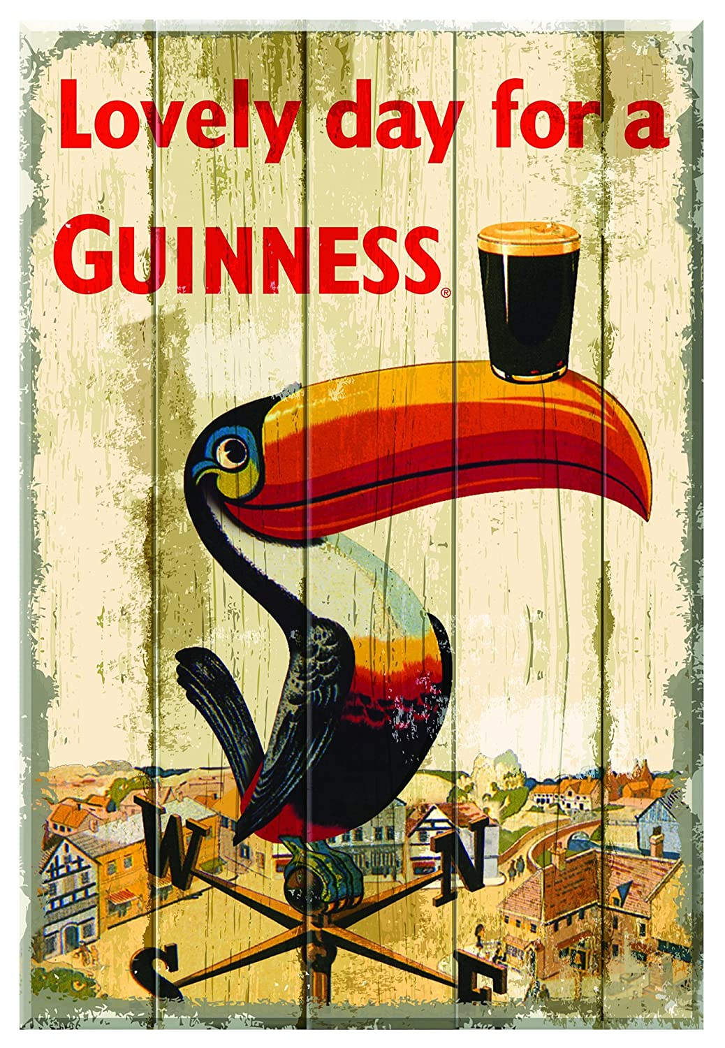 Amazon.com: Guinness Toucan Wallart Wooden: Wall Art
