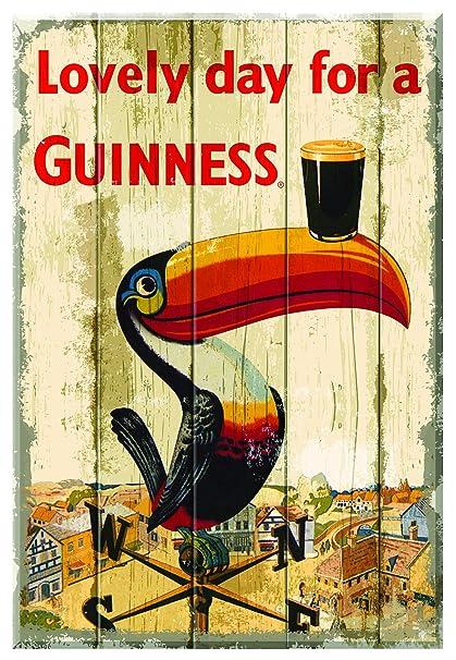 Amazon.com: Guinness Toucan Wallart Wooden: Wall Art