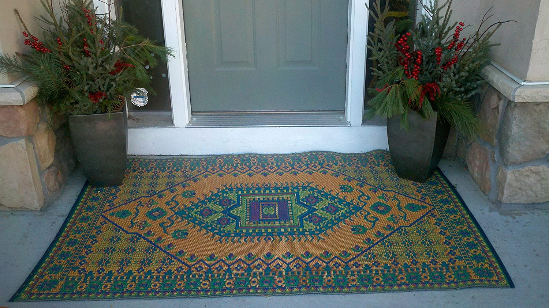 Amazon.com: Mad Mats Oriental Turkish Indoor/Outdoor Floor Mat, 4 By  6 Feet, Aqua: Garden U0026 Outdoor