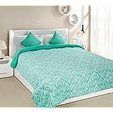 Amazon Brand - Solimo Valencia Microfibre Printed Comforter, Double, 200 GSM, Green