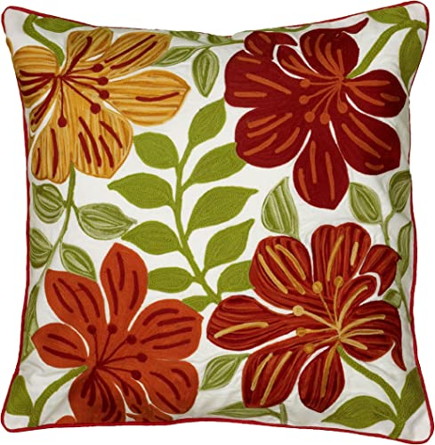 Rizzy Home A21461 Decorative Pillow, 18 X18 , Red