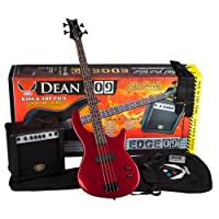 Dean Guitars E09 MRD PK Pack: Bass Guitar Amp Black