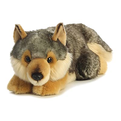 "Aurora - Miyoni - 11"" Wolf - Lying: Toys & Games"