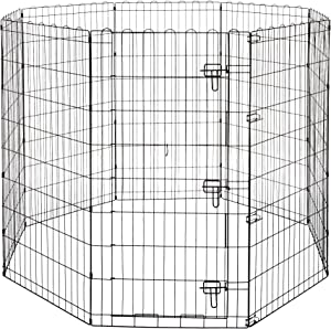AmazonBasics Foldable Metal Pet Exercise and Playpen
