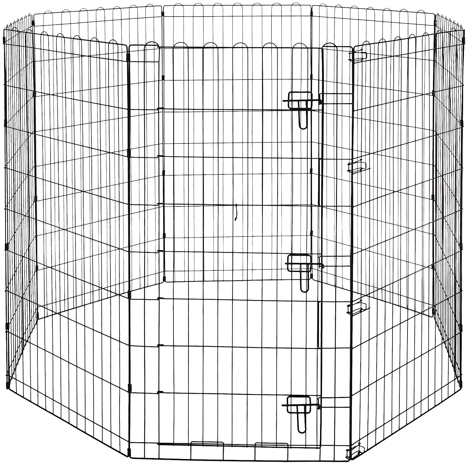 AmazonBasics Foldable Metal Pet Exercise and Playpen with Door, 48