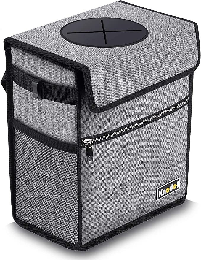 Trash Bag Car Can Mini Garbage Leak Proof Headrest Wastebasket Holder Keeper