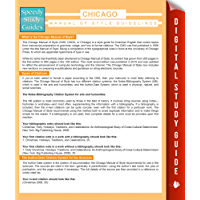 Chicago Manual Of Style Guidelines (Speedy Study Guides)