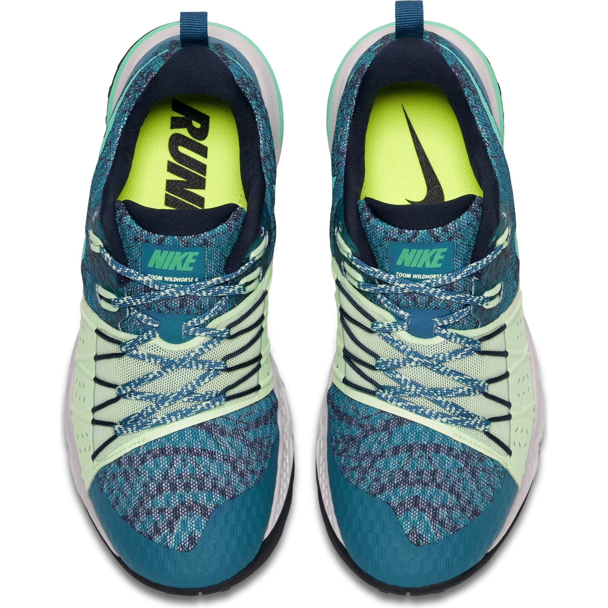 NIKE Women's Air Zoom Wildhorse 4 Running Shoe Green Abyss/Menta-Obsidian-Vapor Green 6.5 by NIKE (Image #3)