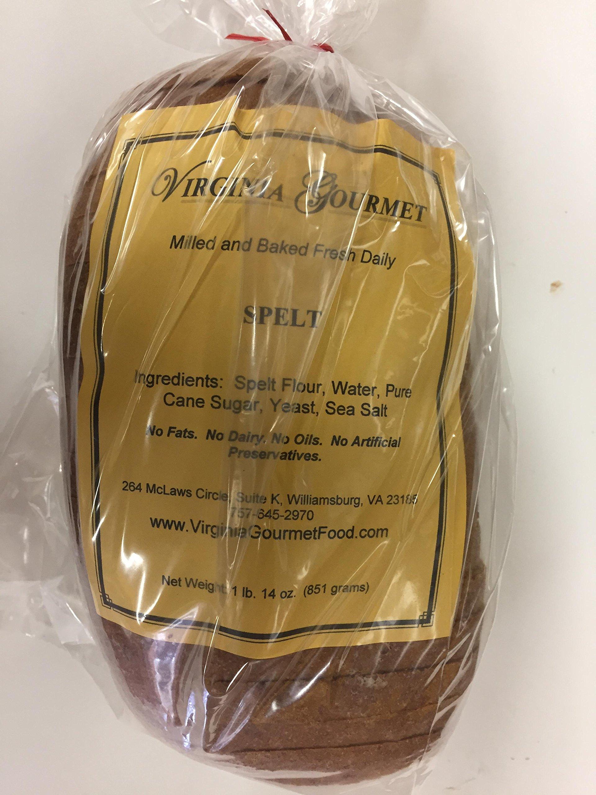 All Natural Spelt Bread (Ezekiel Bread) -2 PACK-Contains Fresh Stone Ground Spelt Flour, Water, Pure Cane Suger, Yeast, Sea Salt