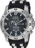 Invicta Men's 'Pro Diver' Quartz Stainless Steel Casual Watch, Color:Black (Model: 24962)