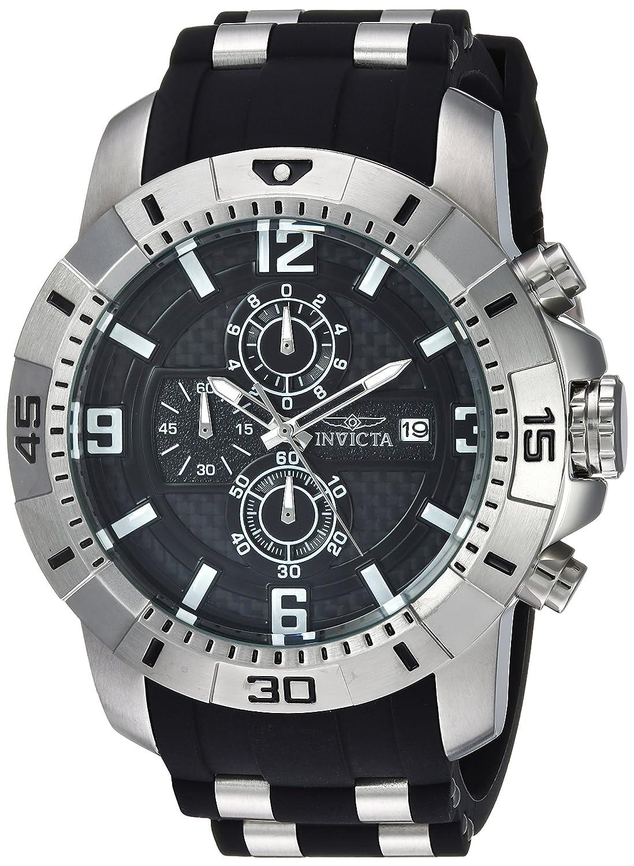 Amazon.com: Invicta Men's 'Pro Diver' Quartz Stainless Steel Casual Watch,  Color:Black (Model: 24962): Invicta: Watches