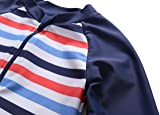 ATTRACO boy one Piece Swimsuit Zip up Long Sleeve