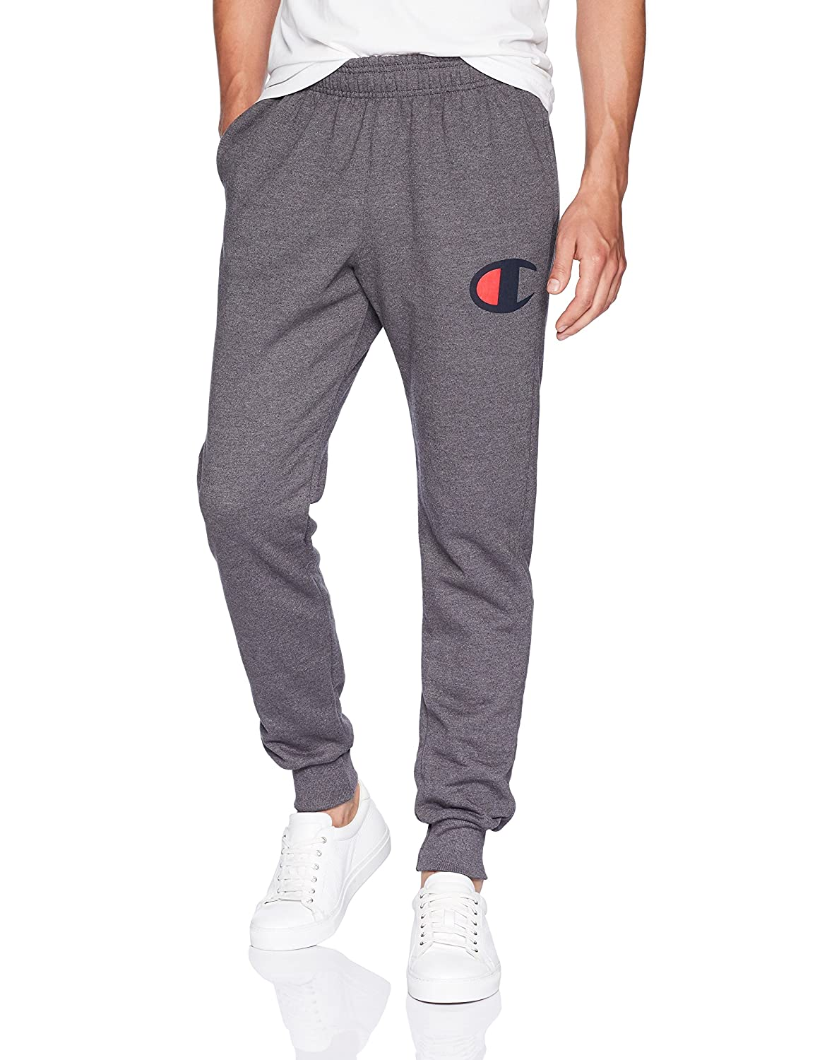 Champion mens Powerblend Fleece Joggers, C Logo (GF22H Y07425)
