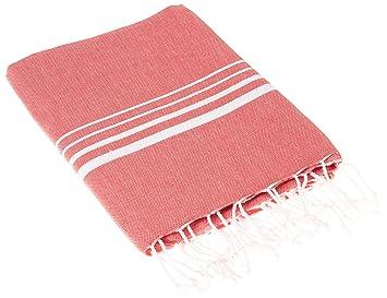 Cacala Toalla de baño turca Paradise Series, algodón, Warm Rich Colors with Stripes Red, 95 x 175 x 0.5 cm: Amazon.es: Hogar
