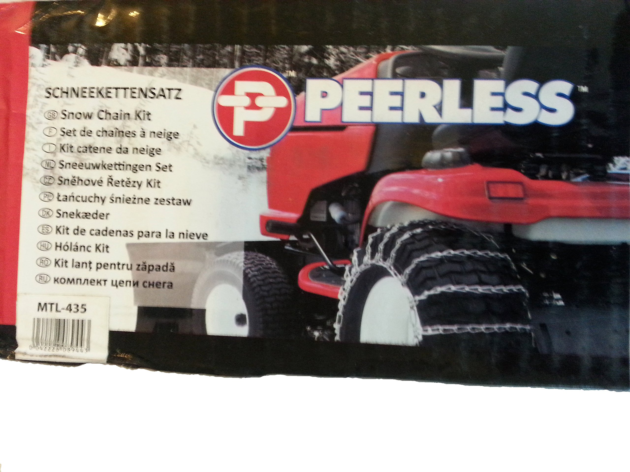 Peerless MTL-417 Garden Tractor 2 link Ladder Style Tire Chains 12x3, 4.50x4, 4.10x5, 3.50x5, 4.10/3.50-5 by MaxTrac (Image #1)