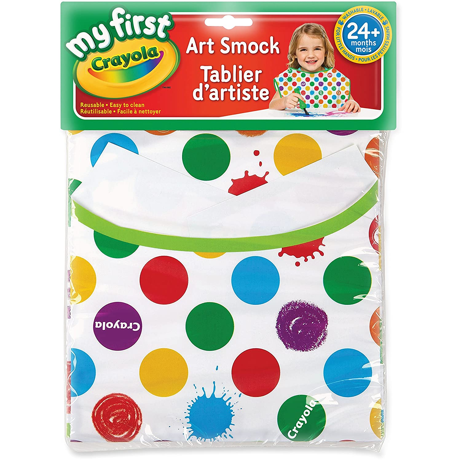 Crayola 690141 My First Art Smock 24 Mths-Up Multi