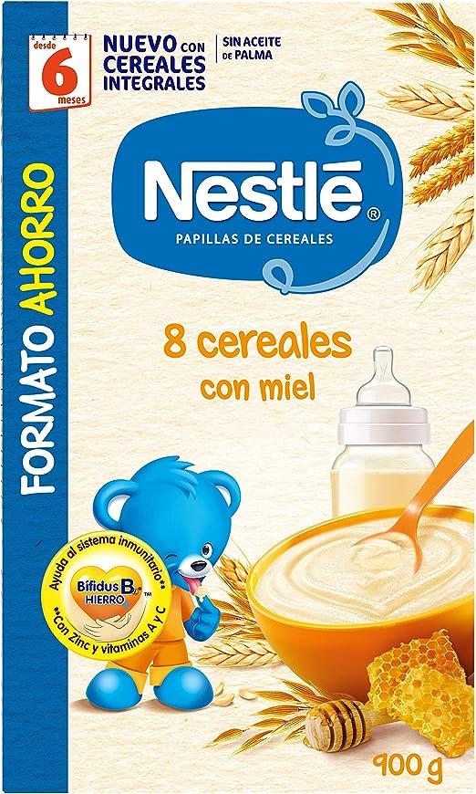 Nestlé Papilla 8 cereales con Miel, Alimento Para bebés - 900 gr ...
