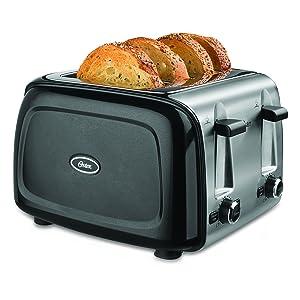 Oster 4-Slice Toaster, Black (TSSTTRPMB4-NP)