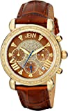 "JBW Women's JB-6210L-O ""Victory"" Leather Diamond Chronograph Watch"