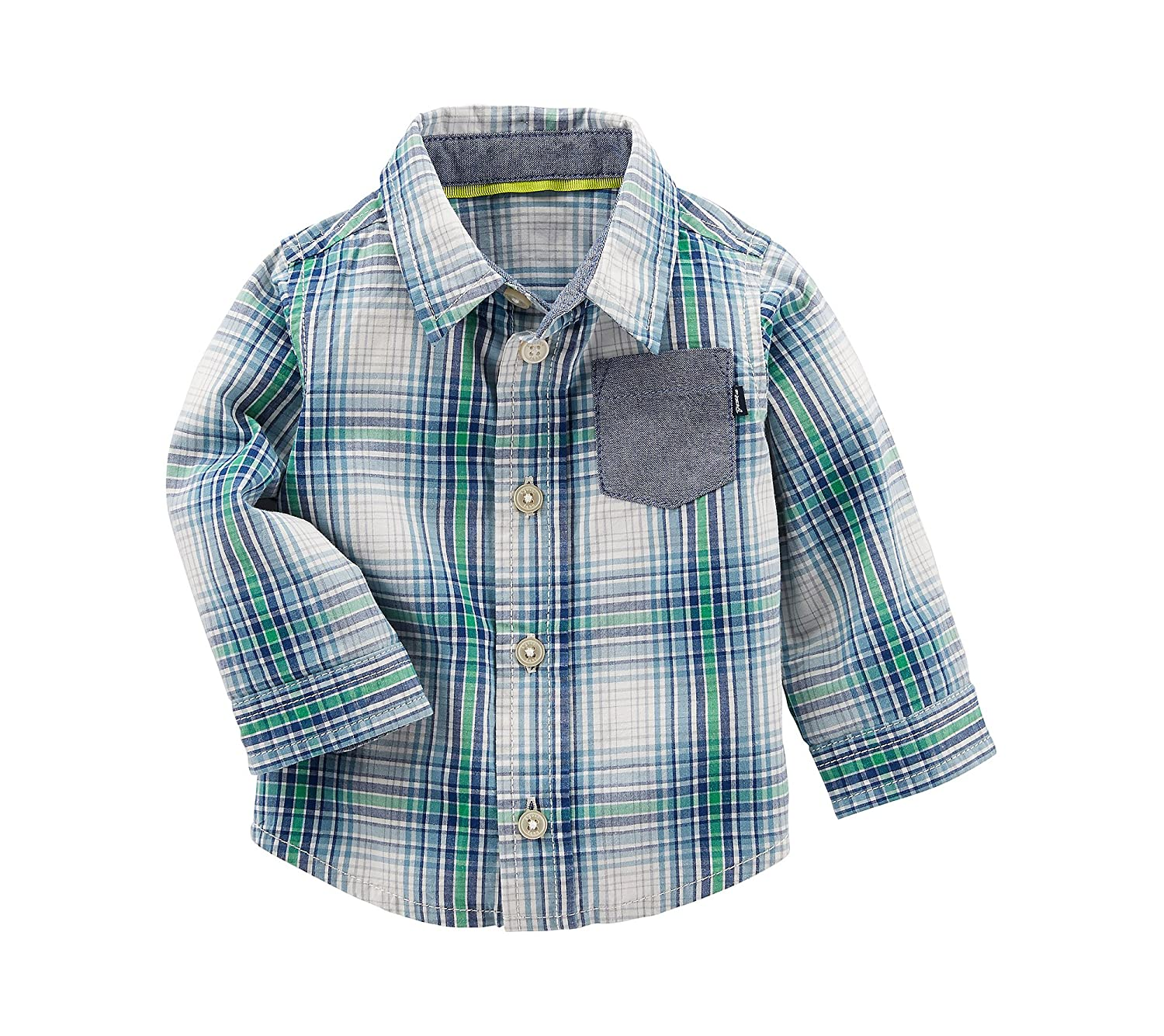 OshKosh B'Gosh Baby Boys' Button Front Plaid Shirt 12254215