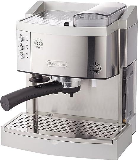 Delonghi EC750 Cafetera De Bomba Tradicional, 1100 W, 1.3 Litros, Acero Inoxidable, Plateado: Amazon.es: Hogar