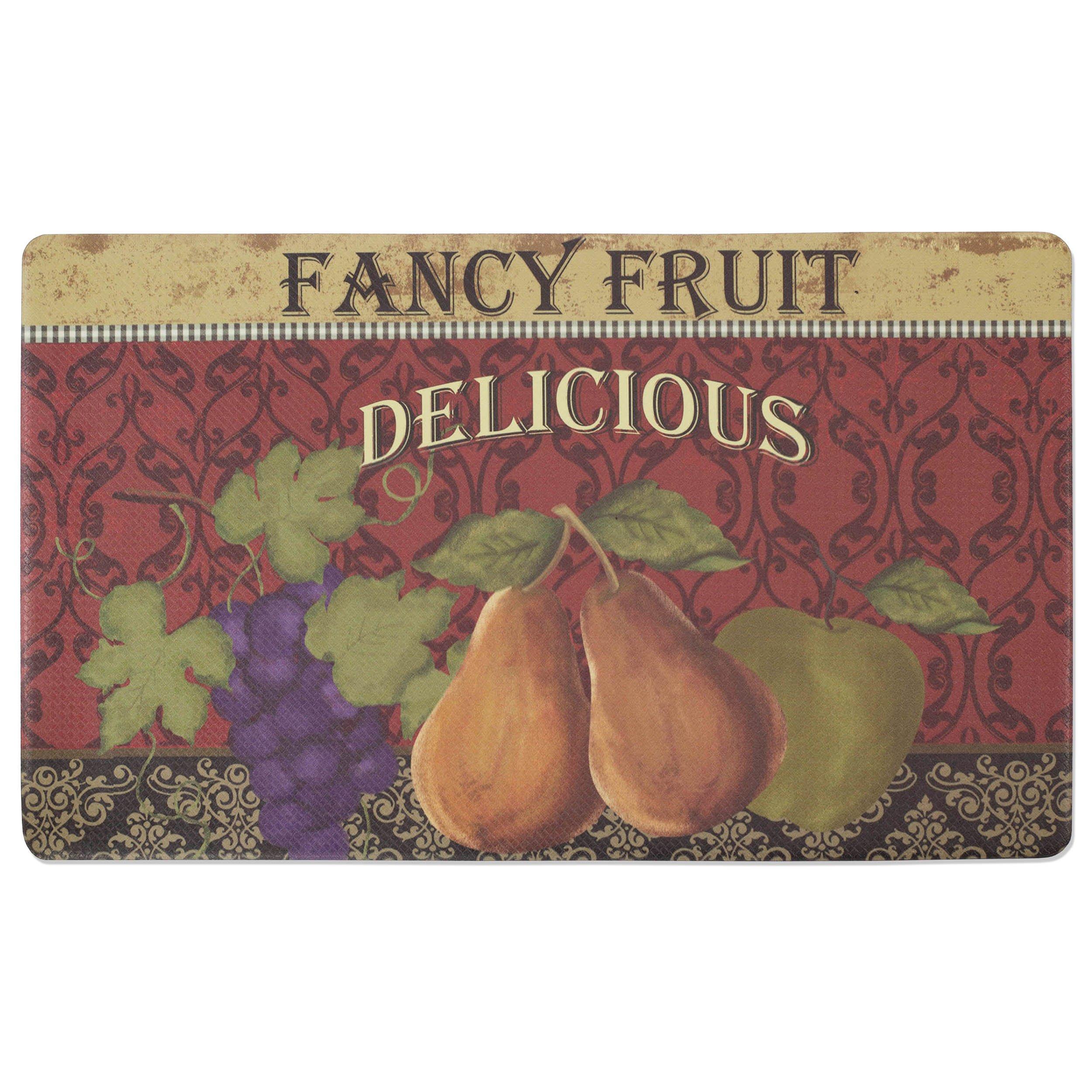 Chef Gear Fancy Fruit Anti-Fatique Comfort Memory Foam Chef Mat, 18 by 30-Inch