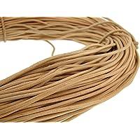Cuerda de piel redonda de 3 mmNatural.Longitud seleccionable.