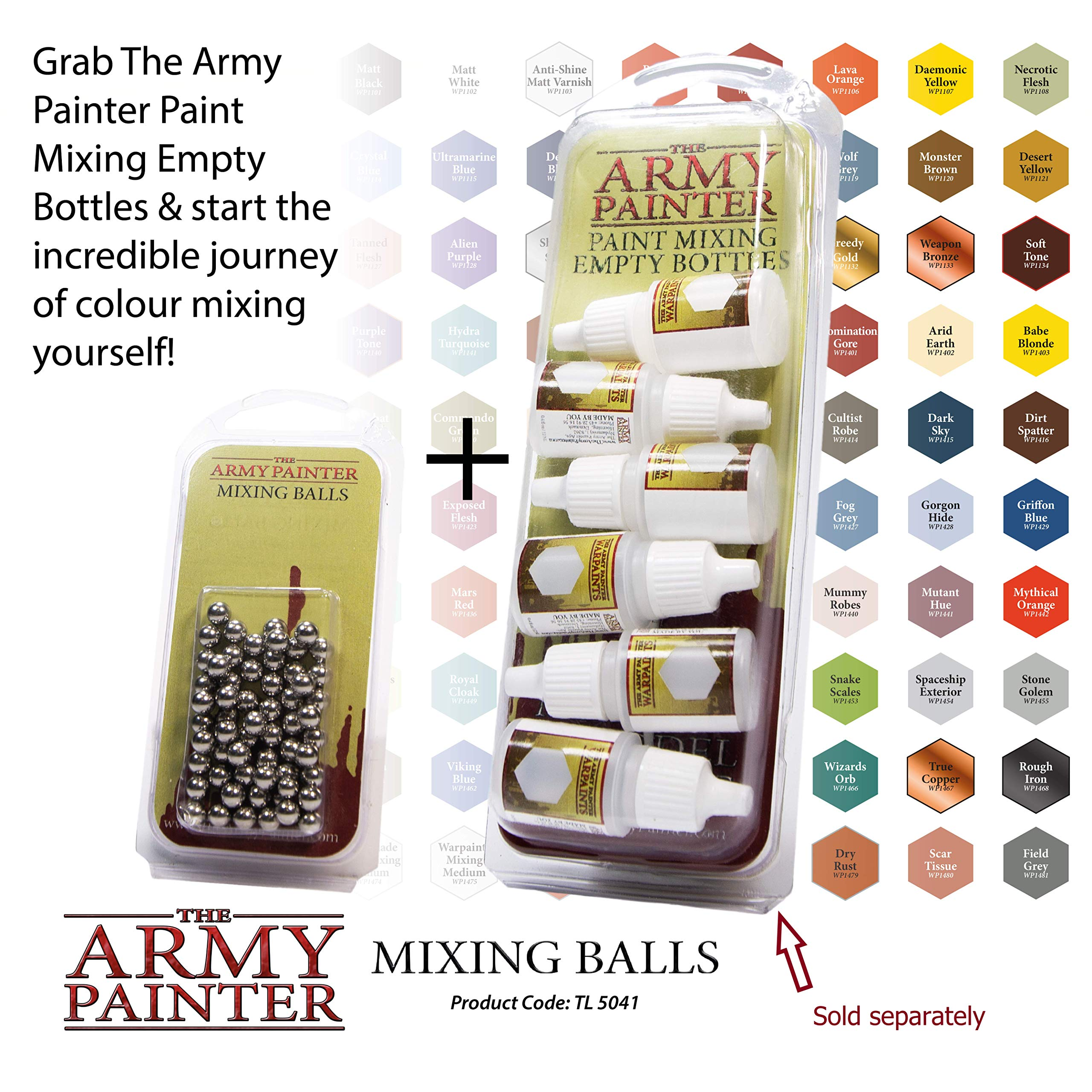 The Army Painter Paint Mixing Balls - Rust-proof Stainless Steel Balls for Mixing Model Paints - Stainless Steel Mixing Agitator Balls, 5.5mm/apr. 0.22'', 100 Pcs by The Army Painter (Image #7)