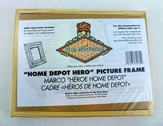 Amazon Home Depot Hero Kids Workshop Picture Frame Craft Kit