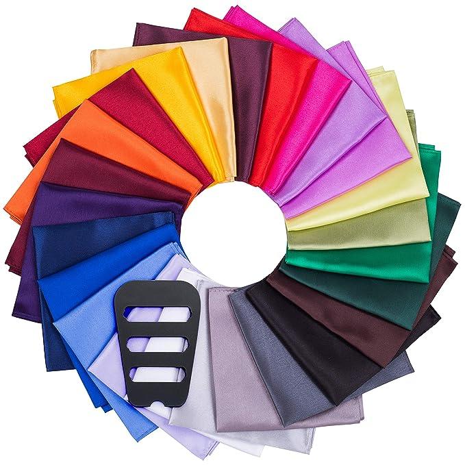 Amazon.com: EkSel - Paquete de 25 pañuelos cuadrados de ...