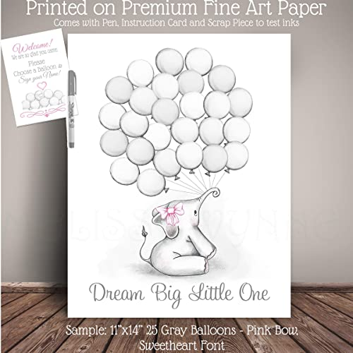Amazon Com Elephant Baby Shower Guest Registry Art Nursery Art