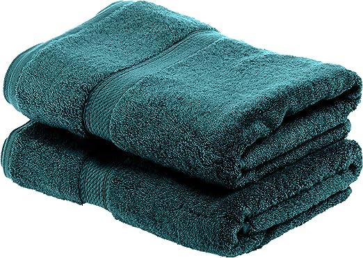 Superior 900GSM TL Juego de Toallas de baño de algodón Egipcio de 900 g, Color Verde Azulado, 100% Peinado, 2PC Bath Towel: Amazon.es: Hogar