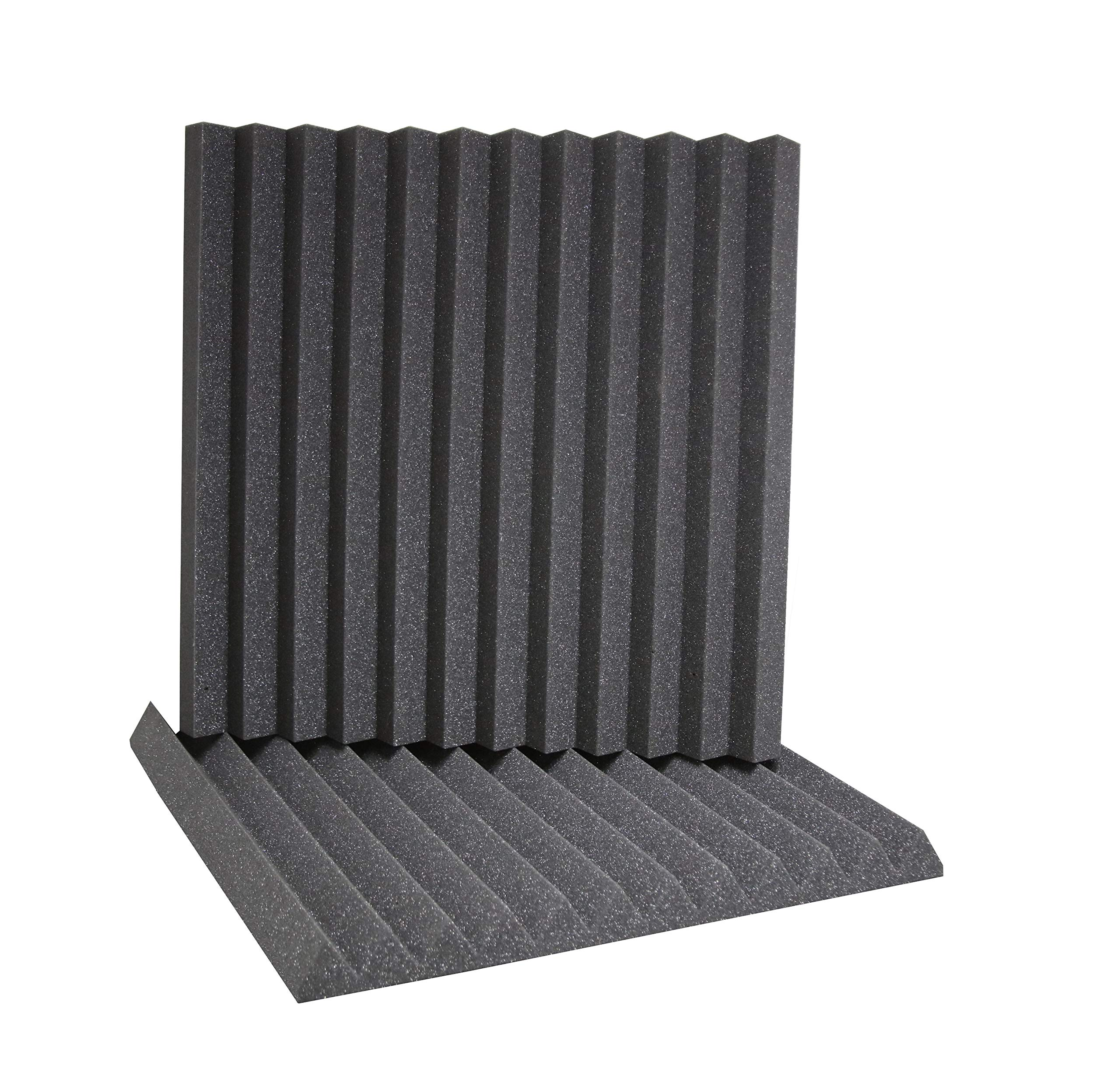 ATS Wedge Foam Acoustic Panels (Charcoal) - 24x24x2 (6pk)