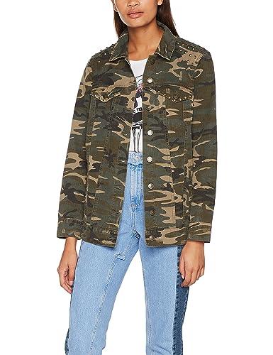 Only Onleva Camo Oversized Jacket Pnt, Chaqueta Vaquera para Mujer