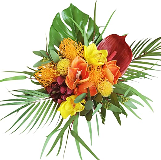 Amazon Com Lily Garden Tropical Wedding Bouquet Real Touch